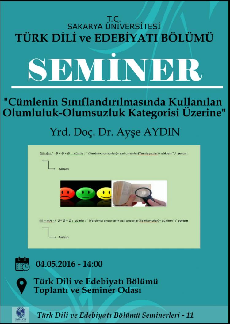 SEMİNER: